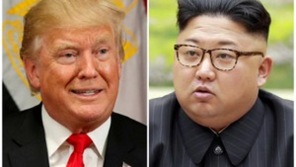 特朗普与金正恩 特朗普与金正恩原定于6月12号在新加坡举行历史性峰会 路透社。