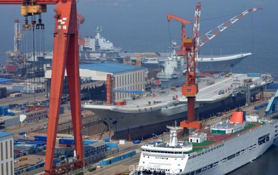 中国双航母首同框 俄舆论呼吁俄舰载机借辽宁舰训练
