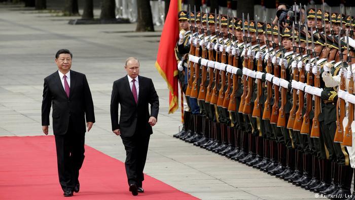 Russischer Präsident Putin mit chinesischem Präsdient Xi Jinping (Reuters/J. Lee)