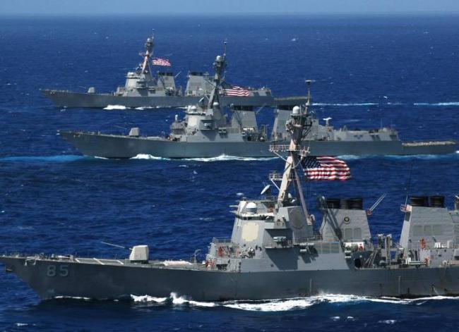 美海军提出一个要求被拒 1艘航母8艘舰艇临时改道