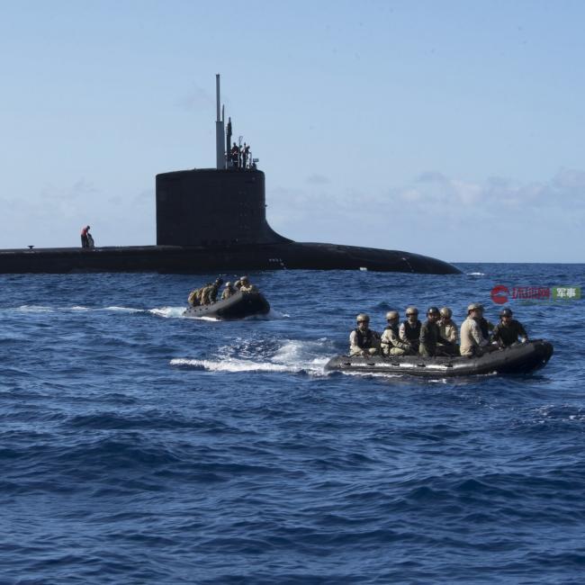多国特种部队进入美军第四代核潜艇演习