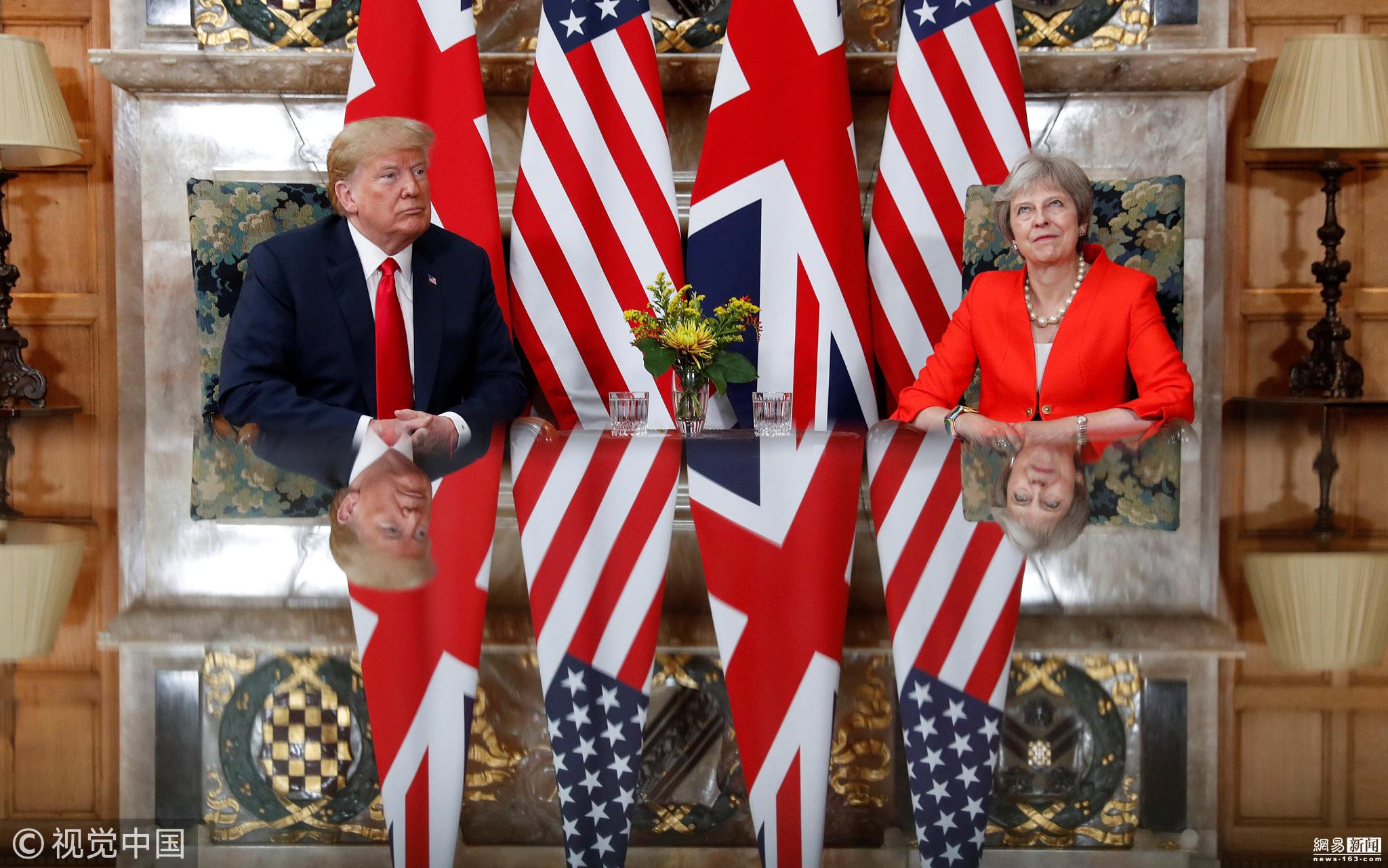 川普出言不逊 与英国首相会晤 遭翻白眼