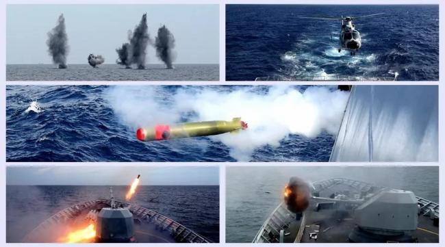 长途奔袭击退来敌!南海舰队演练炮火连天