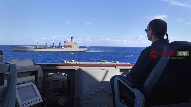 美驅逐艦賴在南海不走橫向補給要長期逗留?