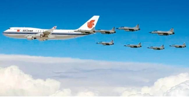 至少已有44架外国战机 为习近平护航