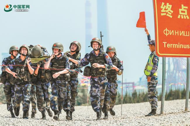 """解放军参加""""国际军事比赛-2018""""掠影"""