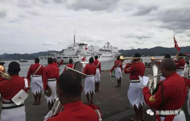 中国医院船前脚刚走 印度就派战舰抵达斐济