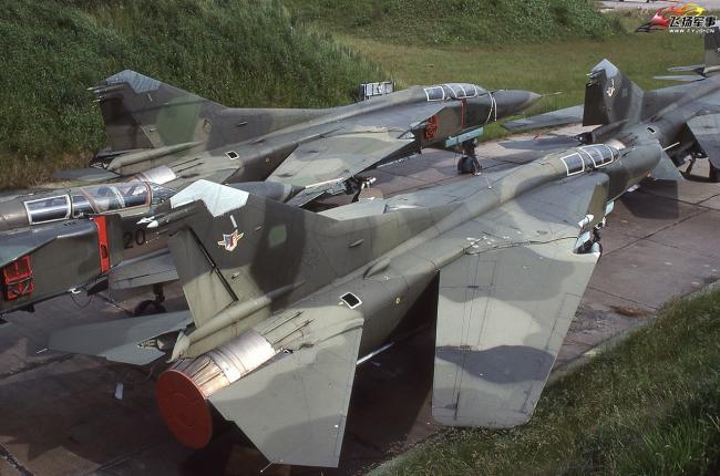 老照片:德国空军的米格-23战斗机