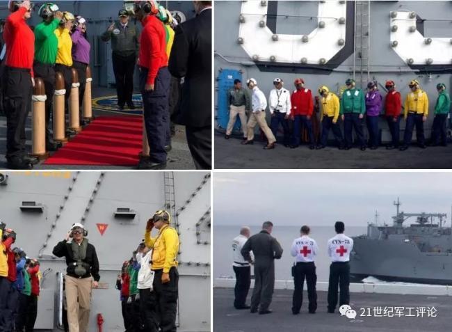 美军航母上穿白马甲的,都是些什么人?