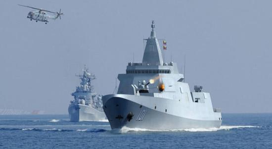 中国一年下水4艘055万吨大驱 或至少还要再造8艘