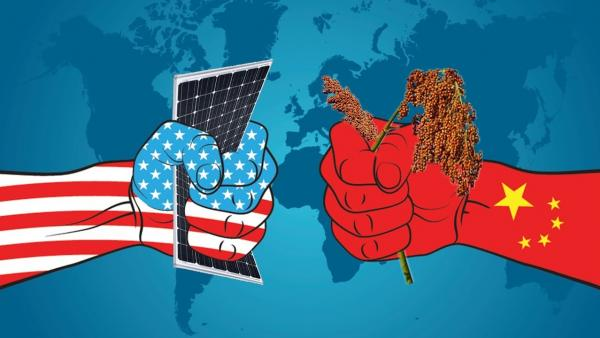 图为中美贸易图片网络照片