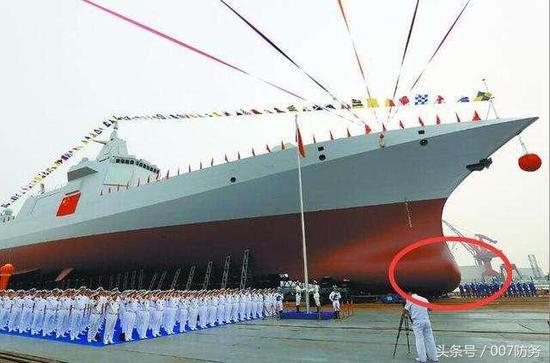 055大驱首次采用飞剪式舰艏 适航性和隐身性加强