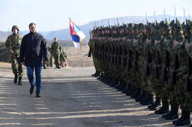 塞尔维亚举行有史以来最大演习