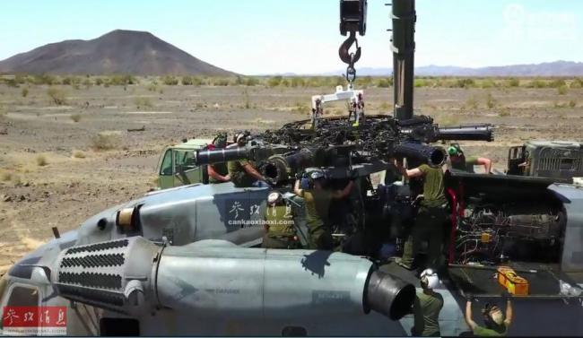 联演抗俄!英军直升机为美战机补充弹药