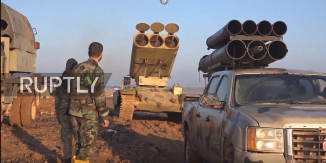 叙利亚军队的重型火箭炮外形奇特威力巨大