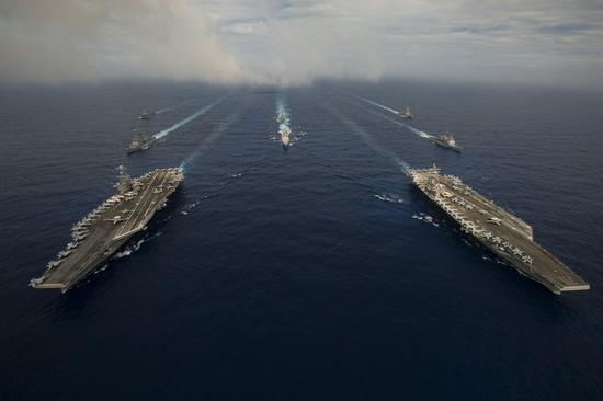 """台军称""""全程掌握""""美航母动向 结果又被美军打脸"""