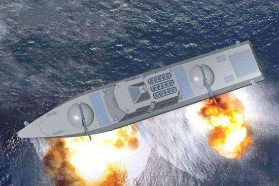 美军要造新型2万吨级巡洋舰 对抗中国055大驱