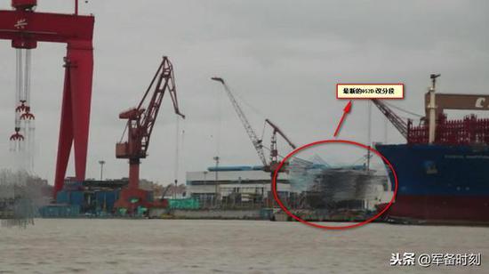 中国第21艘052D/改分段现身 盾舰数量超欧洲盾舰之和