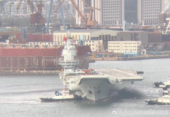 国产航母第4次海试或起降歼15 在明年海军节前服役?