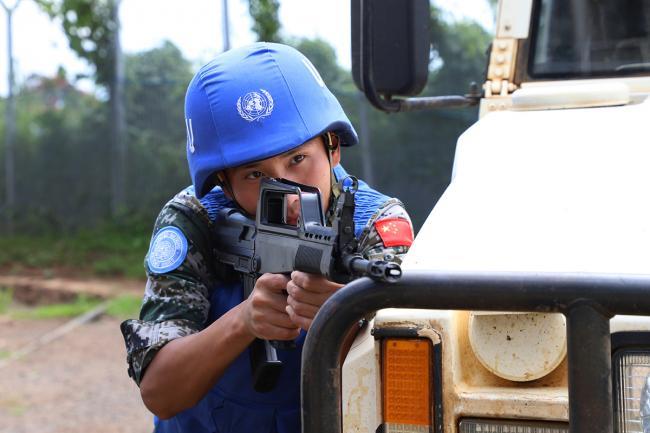 中国维和部队节假日在刚果执勤