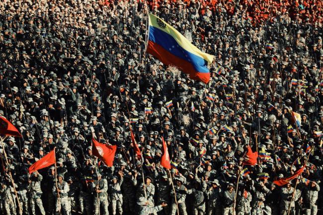大场面:委内瑞拉最大规模军演开始