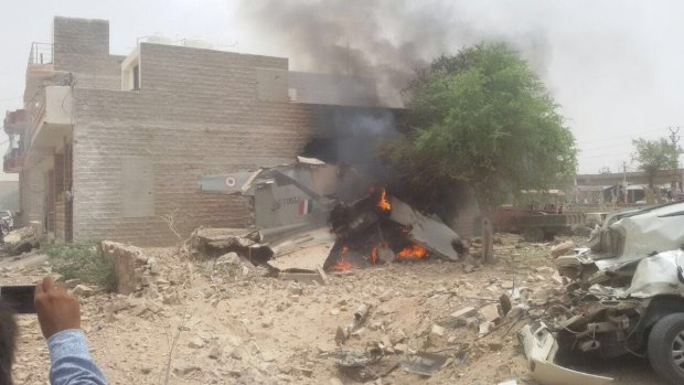 印度空军又一战斗机坠毁 半月连摔3架战斗机
