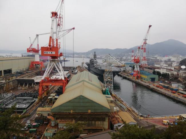 日准航母返厂 甲板开大洞或为起降F35B改装