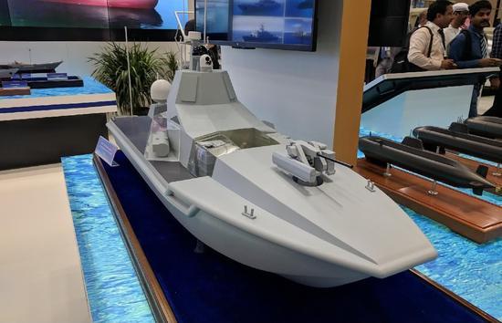 中国20吨级无人战舰亮相 装备相控阵雷达及垂发导弹