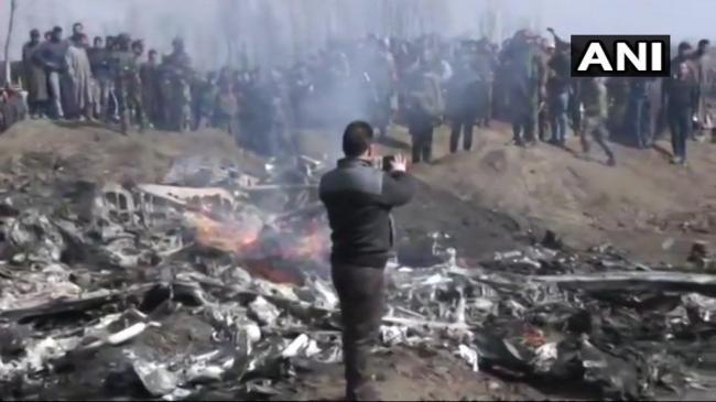 印度米格21战斗机坠毁现场