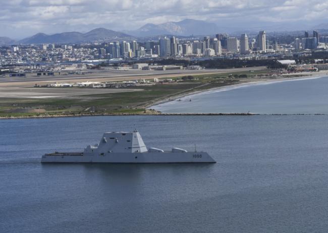 美军科幻DDG-1000驱逐舰进行首次实战部署