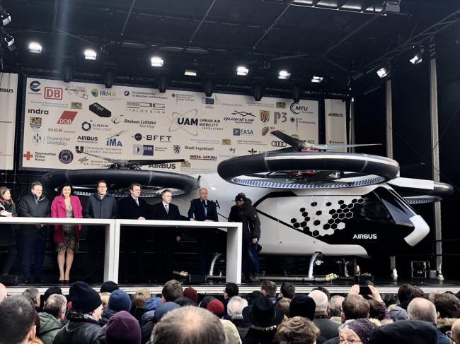 空客在歐洲推出無人機出租車項目造型很科幻