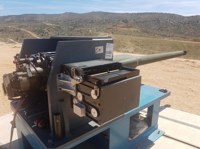 美国展示未来步兵战车主武器50毫米火炮原型
