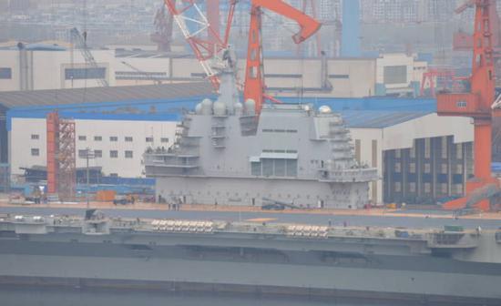 中国第6艘055大驱外观即将成型 今年有望下水