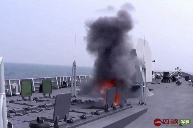 052D发射海红旗-9B画面曝光 采用冷发射方式