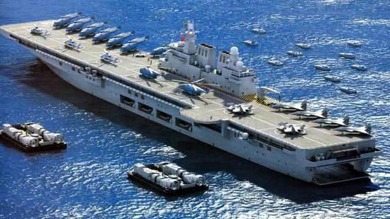 中国海军新目标:055大驱003航母075两栖舰将成主力