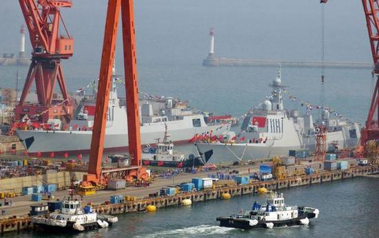 中国下饺子速度有多快:7年下水60艘056和20艘052D舰