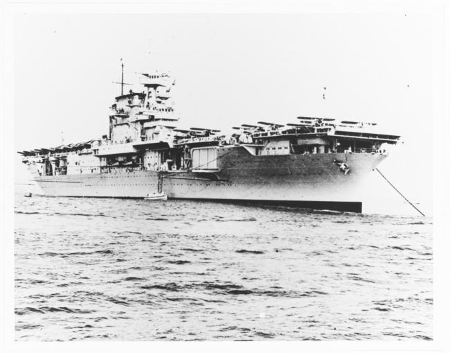 """美海军二战功勋舰 """"企业""""号航母"""