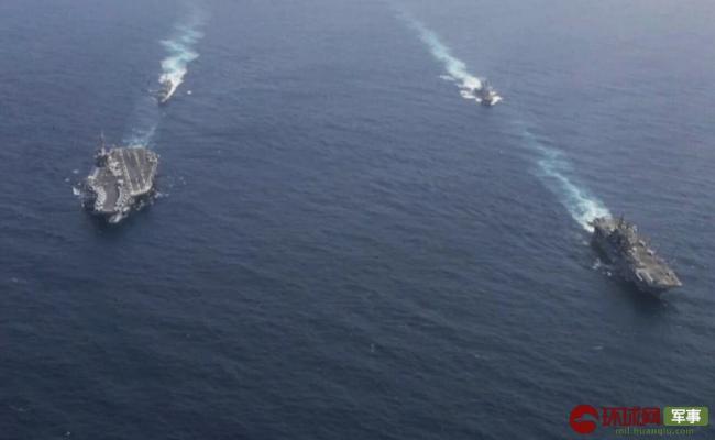 """美军又有大动作!在伊朗家门口集结""""双航母"""""""