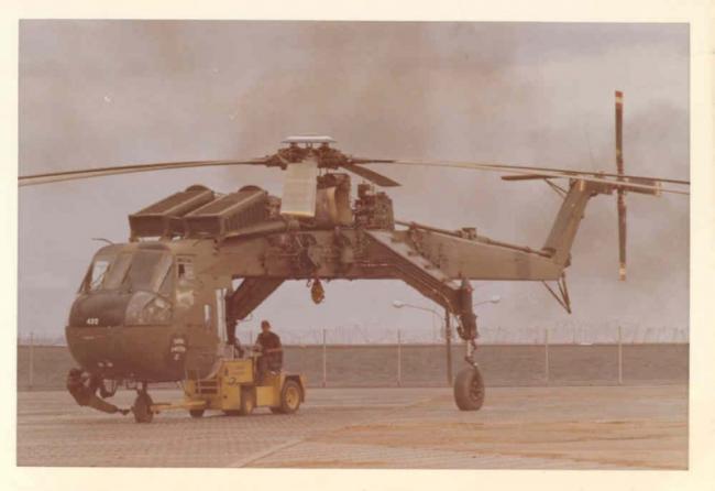 越战中的美国CH-54起重直升机