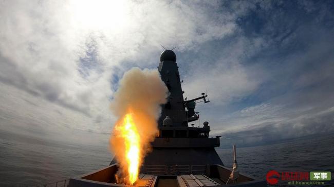 英军45型驱逐舰展示反导能力垂射先进拦截弹