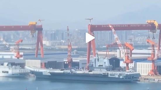 國產航母雷達天線已開始轉動 為交付部隊做最後準備