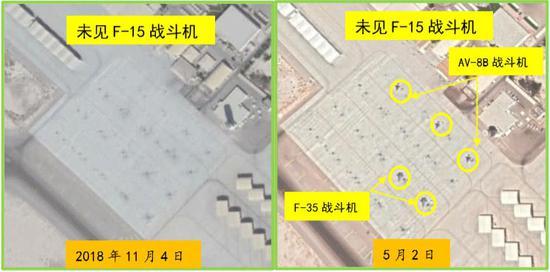 中國衛星拍攝美軍中東調動 新增大批F15清晰可見