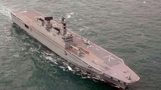 韩军也要造航母:吨位超日本准航母 可载16架F35B