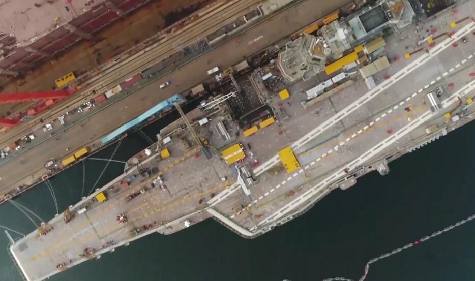 国产航母建造场景!首次披露细节,真实战力超辽宁舰