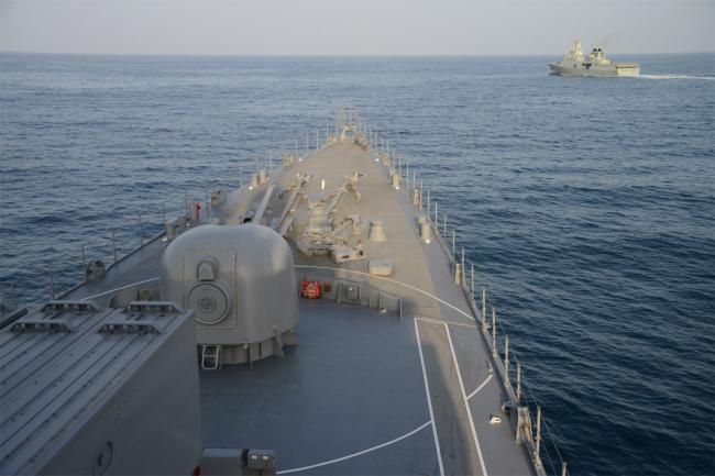 中东局势紧张之际 日本海自波斯湾演练
