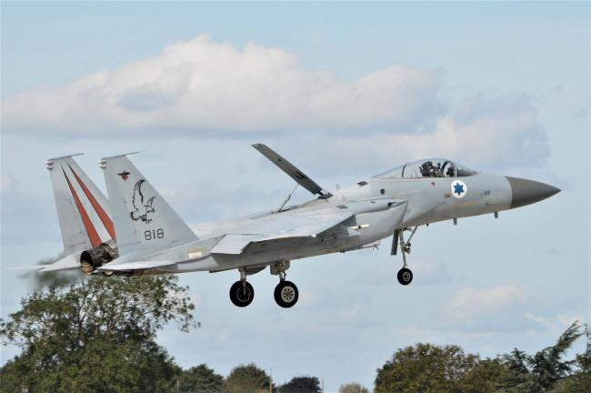 以色列F15突发情况 被迫提前退出演习